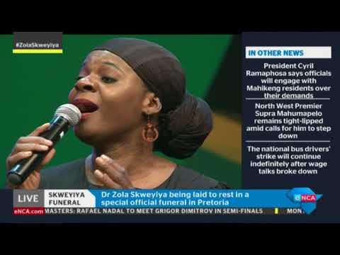Judith Sephuma, Siphokazi and Putuma Tiso pay tribute to Skweyiya