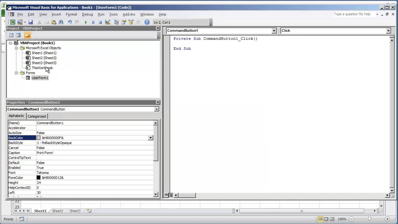 VBA Excel 2010 - How to Print a UserForm using VBA