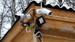 Видеонаблюдение на даче, в загородном доме.