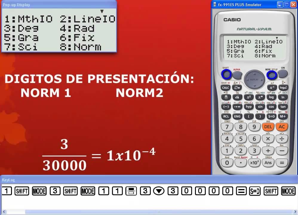como configurar una calculadora cientifica