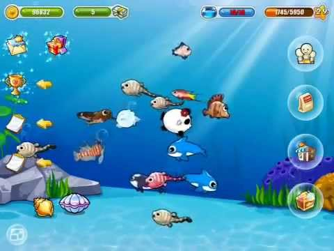 Happy fish dream aquarium game play on the new ipad youtube for Dream of fish swimming