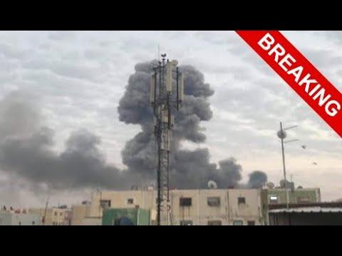 В Багдаде взорвана и горит база США.