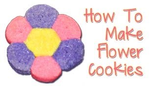 Flower Cookies Made With Refrigerator Cookie Dough