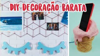 DIY: 3 Ideias de Decoração Baratinha estilo Pinterest! Feat. Nina Braz! Por Isabelle Verona
