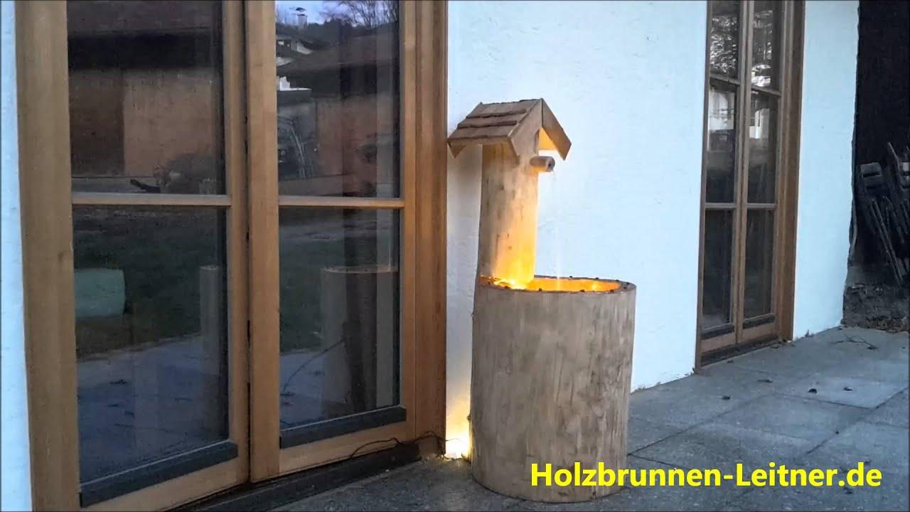Holzbrunnen Für Den Garten Balkon Und Terrasse Youtube