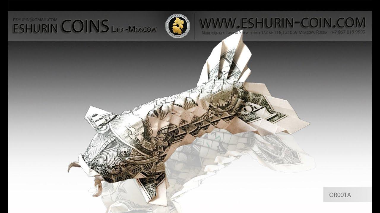 dollar origami of koi fish with fluffy tail youtube dollar bill origami fish vieos jpg 1280x720 [ 1280 x 720 Pixel ]