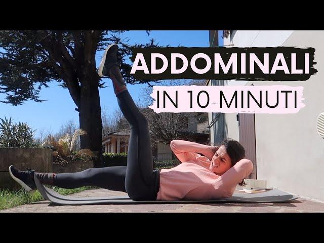 10 ESERCIZI IN 10 MINUTI: ALLENARE GLI ADDOMINALI SENZA ANNOIARSI | Silvia Fascians
