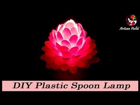 DIY Lampshade Plastic Spoon Craft Home Decoration Idea