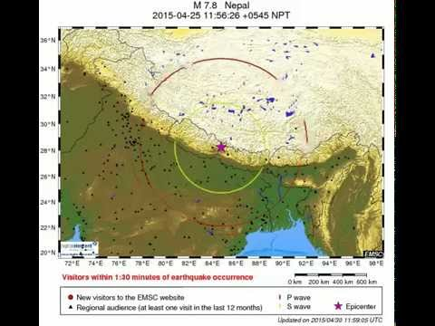 Nepal Earthquake Map.M7 8 Nepal Earthquake 25 04 2015 Quick Map Of The Area Where The