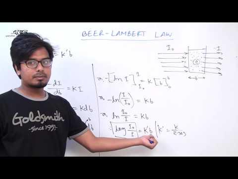 Beer-Lambert Law। বিয়ার-ল্যাম্বার্ট সূত্র। জল-পাই । jol-pi