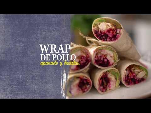 Wraps De Pollo Apanado Y Beetslaw