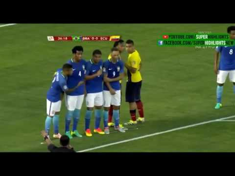 Бразилия - Эквадор 0:0 видео