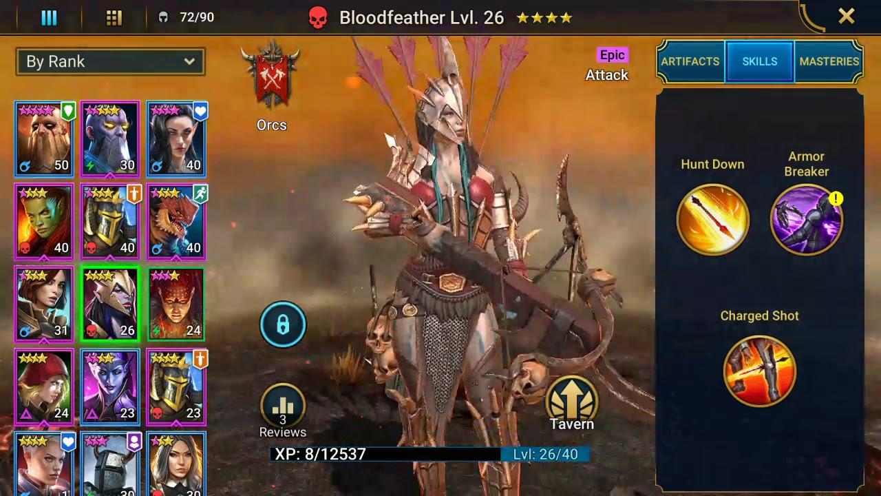 Raid Shadow Legends  Bloodfeather  Epic
