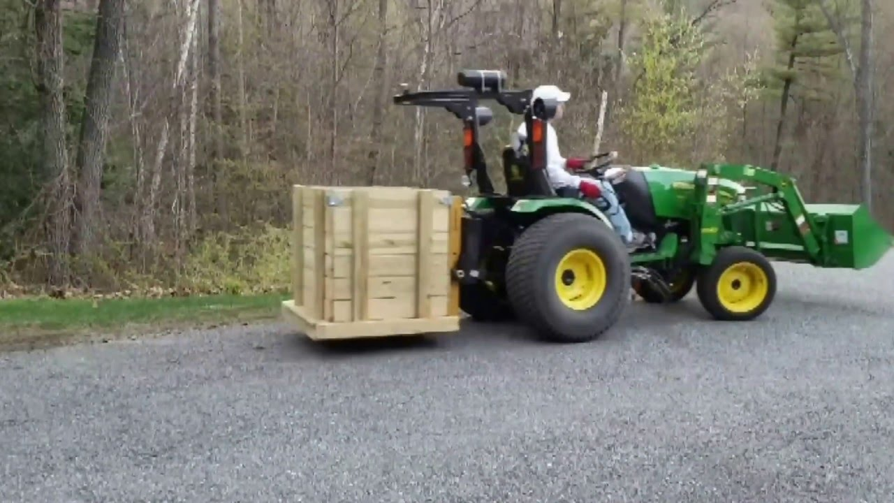 Tractor Carry All Box : John deere r with tractor supply point hitch carry