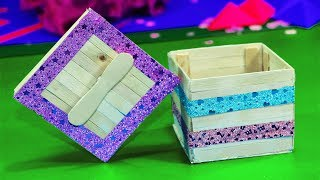 How to Make jewelry box   Popsicle stick crafts   Smart Solution
