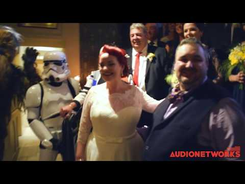 Star Wars Wedding with Chewie, Darth and a Storm Trooper