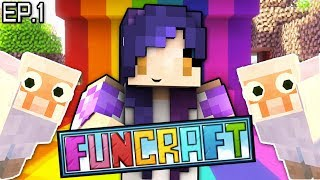 I'm the NEWEST Member!! | FunCraft Minecraft Ep. 1