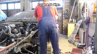 BMW. Wheel wells replacement. Замена стакана.