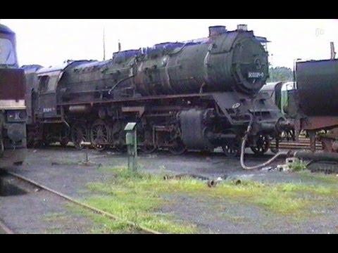 Deutsche Reichsbahn -  Heizloks und Abgestelltes in Chemnitz-Hilbersdorf - Aug.1991  -  Steam Train