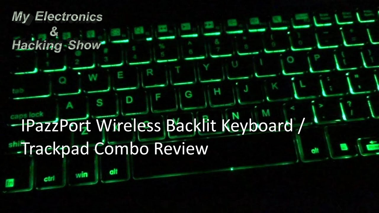 39be4bfe34f IPazzPort Backlit Wireless Keyboard with Trackpad (MEHS) Episode 33 ...