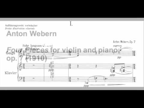 Anton Webern Four Pieces for violin and piano, op. 7