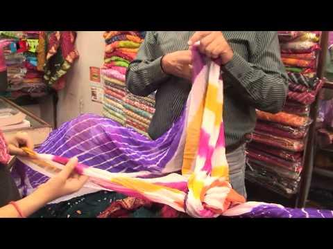 Designer Indian Sarees In Jaipur Market, India by Rooms and Menus