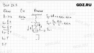 Упр 24.5 - Физика 9 класс Пёрышкин