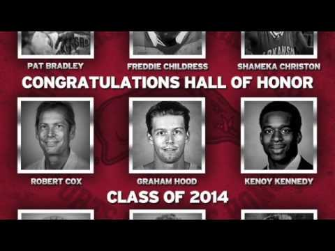 Jim Harris with The Buzz 2014 Razorback Hall of Honor includes Stacy Lewis