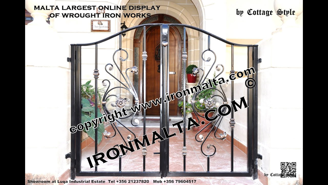 Home Front Wall Iron Gates Design Ideas Malta, Remodel And Decor Art Metal  Works Ironmalta.com   YouTube