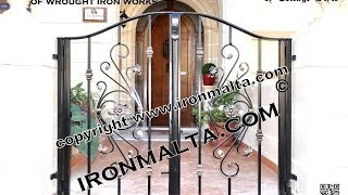 Home Front Wall Iron Gates Design Ideas Malta, Remodel And Decor Art Metal Works Ironmalta.com