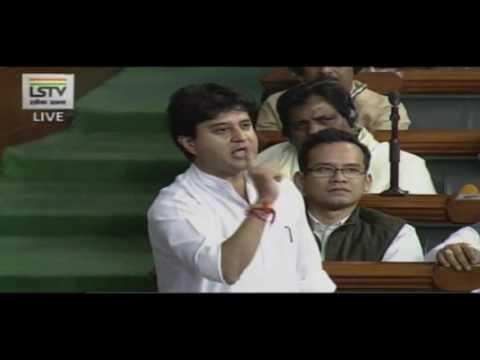 Sh Jyotiraditya Scindia's Speech Motion of Thanks on President's Address