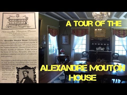 Walking through the Alexandre Mouton House in Lafayette, Louisiana