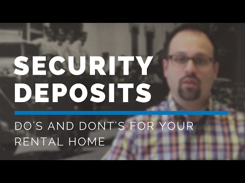 Do's and Don'ts of Virginia Security Deposits – Professional Property Management