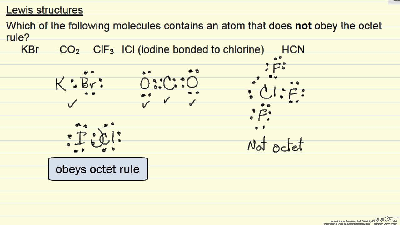 Lewis Structures: Octet Rule (Example) - YouTube