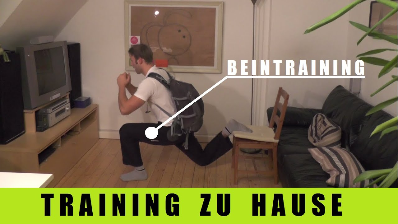 muskelaufbau ohne ger te beintraining f r zu hause youtube. Black Bedroom Furniture Sets. Home Design Ideas