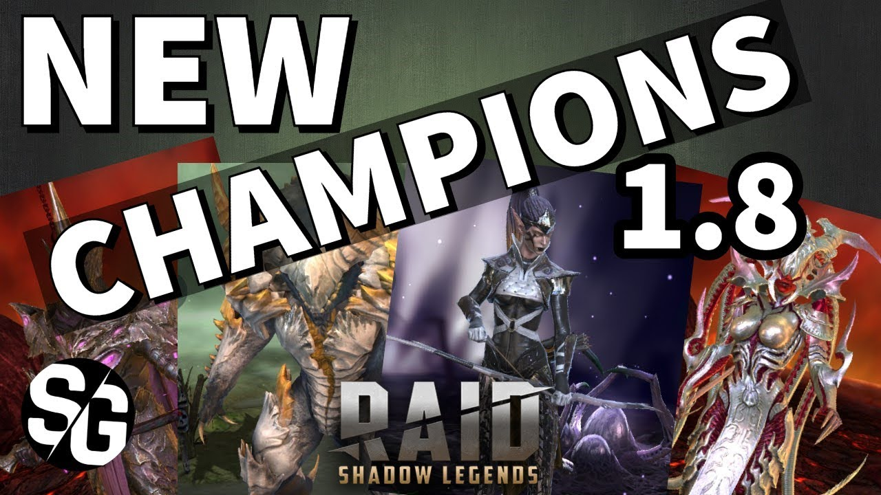 [RAID SHADOW LEGENDS] NEW CHAMPIONS IN 1 8