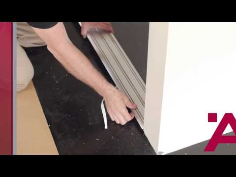Aluflex Sliding Door Installation Guide (2 Of 7): Installing Top And Bottom Tracks