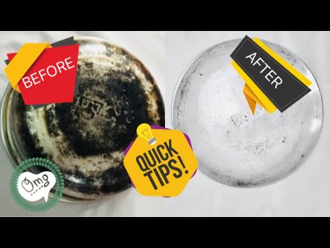 DIY How to Clean Burnt Pan Easily-Useful Kitchen Tip-Easiest Way to Clean a Burnt Pan or Pot-Kitchen