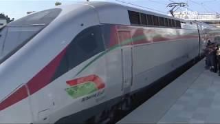 لحظة انطلاق قطار البراق فائق السرعة بالمغرب