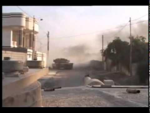 Iraq Raw Combat M1 Abrams vs Insurgents Fallujah