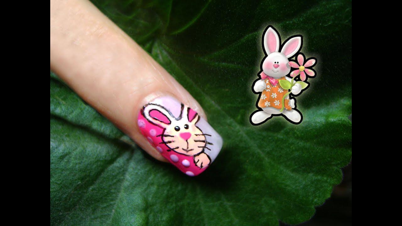 Uñas Conejo de Pascua - Easter Nails - YouTube