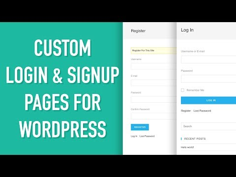 Custom Login & Signup Page for WordPress