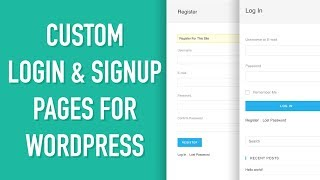 Custom Login & Signup Page for WordPress - Urdu-Hindi Tutorial Mp3