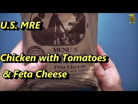 MRE Review - Menu 5 - Chicken with Tomatoes and Feta Cheese (2013)