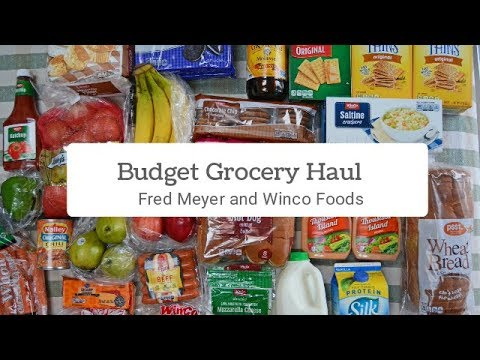 Budget Grocery Haul, 2 Store Haul   Frugal Family Home