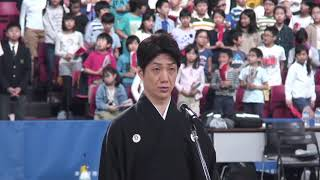 2019年10月16日、東京体育館で行われた【車いすラグビーワールドチャレンジ2019】開幕戦・日本VSブラジルで、狂言師の野村萬斎が国歌「君が代」の独唱を務めました。