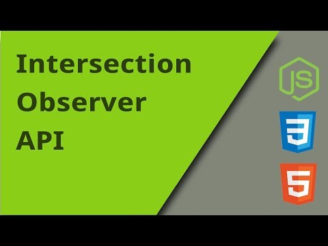 IntersectionObserver API