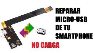 Reparar MicroUsb Puerto Usb De Carga Smartphone BQ Aquaris E5