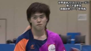 【ダイジェスト】世界卓球2018 男子日本代表第1次選考会 森薗政崇vs町飛鳥 thumbnail