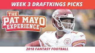 2018 Fantasy Football — Week 3 DraftKings Picks, Preview, Start, Sit and Sleepers
